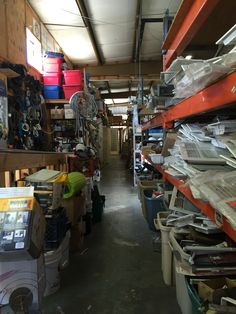 Rows upon rows of stuff for DIY projects a man's thrift shop...in the city of El Dorado, Habitat for Humanity