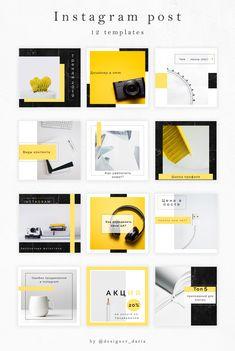 Instagram Design, Layout Do Instagram, Instagram Grid, Instagram Post Template, Story Instagram, Instagram Posts, Web Design, Graphic Design Layouts, Brochure Design