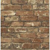 "Found it at Wayfair - Gentlemen's Quarters 33' x 20.5"" Oxford Brick Texture Wallpaper"