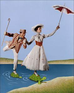 Mary Poppins - Dick Van Dyke - Julie Andrews
