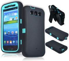 ZeroLemon Samsung Galaxy S4 ZeroShock Rugged Sparkle Mint Teal / Viper Black Case + Holster/KickStand + Screen Protector for Original Slim & 7500mAh Extended Battery Case ***Battery NOT Included*** (Compatible with AT&T I337, Verizon I545, Sprint L720, T-Mobile M919, International I9500 & I9505) S4-R-Teal/Black