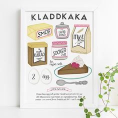 Posters and prints in Scandinavian design - Nordic Poster Collective Buy Posters Online, Kitchen Posters, Unique Poster, Fika, Bullet Journal Inspiration, No Bake Desserts, Scandinavian Design, Creative Inspiration, Arts And Crafts