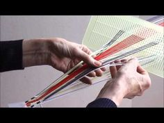 Swedish woven bands using a double-hole heddle