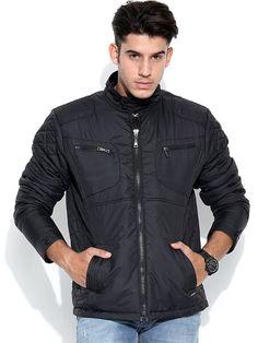 Flat 25% OFF On Duke Winter Collection. Duke Full Sleeve Round Neck Black Jacket by Returnfavors