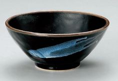 BLUE-GLAZE-TENMOKU Jiki Japanese Porcelain Rice-Bowl for UDON,SOBA,TERIYAKI-BOWL made in JAPAN Watou.asia