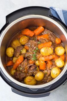 The best Instant Pot Pot Roast with potatoes, carrots and a flavorful gravy. The beef is melt in your mouth tender! This simple pot roast recipe is so easy to make in your pressure cooker! Cook from fresh or frozen. Beef Recipe Instant Pot, Instant Pot Pot Roast, Instant Recipes, Instant Pot Dinner Recipes, Recipes Dinner, Dinner Ideas, Instant Pot Veggies, Easy Pot Roast, Beef Pot Roast