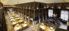 Leeszaal in Bibliothèque Mazarine, Parijs