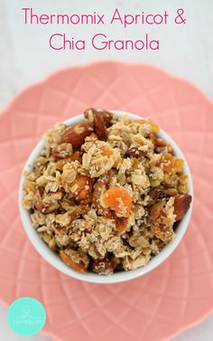 Our Thermomix Apricot & Chia Granola is the perfect start to the day! that are SO easy to make! Paleo Recipes, Sweet Recipes, Cooking Recipes, My Favorite Food, Favorite Recipes, Paleo Sweets, Healthy Snacks, Eating Healthy, Clean Eating