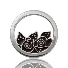 Rose Enamel in Silver