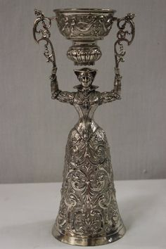 A fancy continental silver wedding chalice(?) : Lot 341
