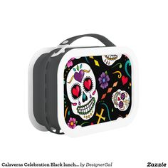 Pack your lunch with plenty of snacks into a Sugar Skull lunch box from Zazzle. Choose from plastic or metal lunch boxes to keep your food fresh and safe! School Lunch Box, Metal Lunch Box, Sugar Skull, Dragon, Celebrities, Mythology, Kids Fashion, Office Supplies, Black