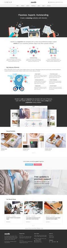 Morello is flat and responsive WordPress #theme with tons of features, built with Twitter Bootstrap to create a unique and #professional #website. Download Now!