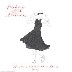 Hunters Fit and Flare Dress for Fashion Star. #FashionStar #HunterDixon