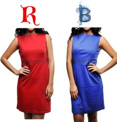 """""""Red Or Blue Shift Dress"""" by ladiesfashionsense on Polyvore"""