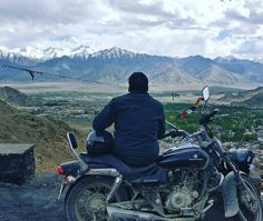 Sitting on the way to Tsemo monastery and watching at the whole Leh city is pleasure.  But sudden snow showers gives you chills when you don't have any place to hide.  #Leh #Ladakh #nature #motorbiking #biketrip #Solo #monastery #budhism #india #instago #sky #clouds #snowride #snowmountains #rain #View #city #ride #motorcycle #instavacation #naturephotography #travelphotography #photoshoot #HighwayMonks