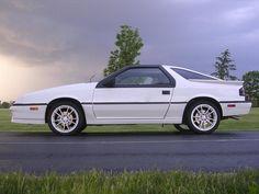 My first car..1986 White Dodge Daytona