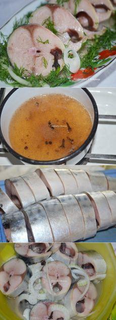 Как приготовить скумбрия, маринованная в яблочном уксусе с пряностями - рецепт, ингридиенты и фотографии