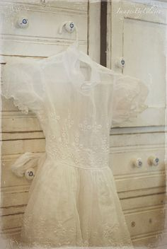 THis is my First Communion Dress from the early 60s. I have it hanging in my closet, never thought of it as being so pretty . . . til now!