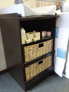 2 Basket 1 shelf change trolley on wheels   Baby Nursery Furniture in Johannesburg South Africa