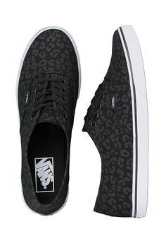 0945ecce53a7 Vans Authentic Lo Pro Leopard Black Black Women s Skate Shoes Size 8