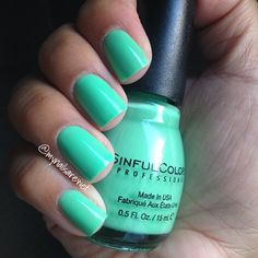Sinful Colors Mint Tropics #STASH
