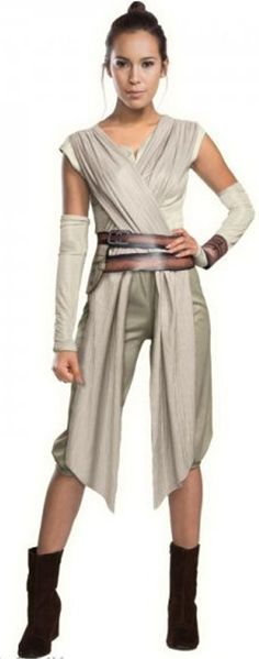 Shop this women's Rey costume online now at Heaven Costumes. This officially licensed Star Wars fancy dress costume by Rubies is perfect for your next sci-fi movie dress up party. Women's Star Wars costumes are in stock now for express delivery. Costume Star Wars, Star Wars Halloween Costumes, Halloween Kostüm, Adult Costumes, Costumes For Women, Halloween Cosplay, Women Halloween, Halloween Outfits, Female Costumes