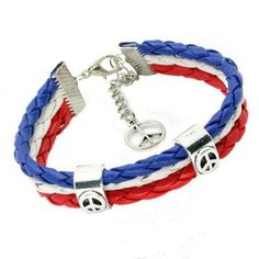 If you want to show the world that you are a huge fan of Team France, then this customized support France braided leather bracelet is a perfect fit for you. Beautifully handcrafted and designed, the braided leather bracelet adds style to your daily wear. Braided Bracelets, Bracelets For Men, Leather Bracelets, Leather Jewelry, Bracelet Making, Jewelry Making, Wholesale Silver Jewelry, Expensive Jewelry