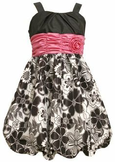 Bonnie Jean Girls PLUS 12.5-20.5 Black White Shirred Waist Floral Bubble Dress, http://www.amazon.com/dp/B00B4DXM20/ref=cm_sw_r_pi_awdm_gbljtb1ZG39F0