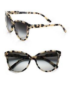 Stella McCartney - Butterfly Acetate Cat's-Eye Sunglasses/ Grey Tortoise