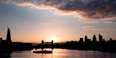 London City sunset from Bermondsey, by James Turnbull