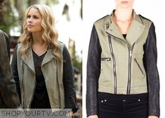 Rebekah Mikaelson (Claire Holt) wears this combo moto jacket in this episode of The Originals. It is the Members Only Denim Combo Moto Jacket. Buy it HERE for $49.99 All outfits from The Originals Other Outfits from The Originals Season … Continue reading →