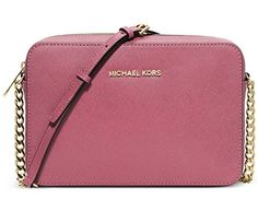Women's Cross-Body Handbags - MICHAEL Michael Kors Womens Jet Set Travel Large Crossbody Tulip * You can find out more details at the link of the image.