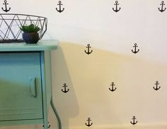 Anchors Removable vinyl wall decals. Interior design • kids rooms • nursery • girls rooms • boys rooms Removable Vinyl Wall Decals, Anchors, Girl Nursery, Kids Rooms, Girl Room, Little Boys, Interior Design, Girls, Home Decor