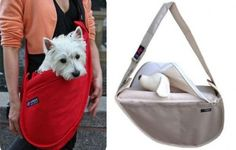 The Fundle® from Gramercy Pet is a sling bag for your small dog (it comes in three small sizes).