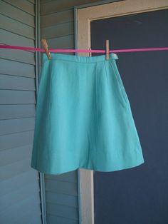 Vintage Handmade Blue Skirt by vintapod on Etsy, $12.00