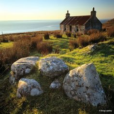 Crofter's Cottage Melvaig, near Gairloch, Wester Ross, Highland, Scotland.