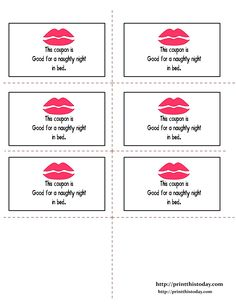 Free Printable Valentines Day Coupons Everything Valentines Day
