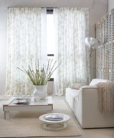 Double elegant and semi transparent. From the vtwonen curtain collection; fabric blossom with flower motif.