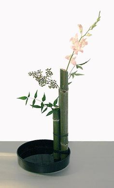Ikebana Class By EliseFree Style With Bamboo