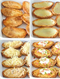 Twice-Baked Potato Skins with Chipotle, Garlic & Cheese Recipe - Creamy, crispy and impossible to resist!   sliceofkitchenlife.com