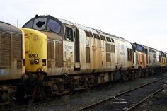 37890 (ex D6868, 37168) at Margam on 5th Jan 2008. --- England