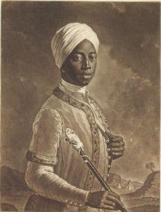 Portrait of Angelo Soliman by Johann Nepomuk Steiner.