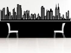 NYC, skyline van New York, sticker, sticker, muur, thuis, kantoor, slaapkamer, eetkamer inrichting, illustraties.  Decal maatregelen ongeveer 83,5 inch breed x 22.5 inch groot. Komt in meerdere stukken voor het gemak van toepassing. Kan het speciale besteld in elk formaat. Stuur mij uw nieuwe metingen voor een bod. De foto weergegeven kan niet de werkelijke grootte tonen dat het komt in, gelieve te controleren de metingen zo kunnen we u de grootte u nodig hebt.  Elke sticker wordt geleverd…