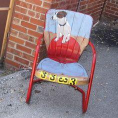 Dog Portrait Chair