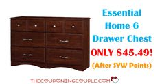 Don't miss out on this Essential Home 6 Drawer Chest for ONLY $44.49 (was $189.99) with FREE shipping! Awesome deal!  Click the link below to get all of the details ► http://www.thecouponingcouple.com/essential-home-6-drawer-chest/ #Coupons #Couponing #CouponCommunity  Visit us at http://www.thecouponingcouple.com for more great posts!