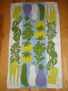 vera neumann linen tea towels. the vintage are fab, but pricey. i find them new at home goods and tj maxx for $1.99!