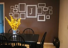 Simplifying Life: Ideas for Picture Collage on our Living Room Empty Picture Frames, Picture Frame Decor, Empty Frames, Empty Wall, Frame Wall Collage, Frames On Wall, White Frames, Wall Decor, Wall Art