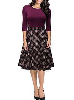 Miusol Damen 3/4 Arm Vintage 50er Kleid Knielang Abendkle... https://www.amazon.de/dp/B01KUH70G4/ref=cm_sw_r_pi_dp_x_35MsybA6F0XFB