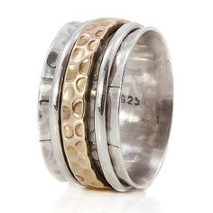 karma bronze and silver spinning ring by charlotte's web | notonthehighstreet.com