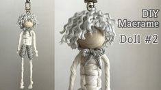 DIY Macrame Doll For Wedding / 마크라메 인형 - bridalshower Macrame Design, Macrame Art, Macrame Projects, Macrame Knots, Macrame Modern, Art Macramé, Yarn Dolls, Dolls Dolls, Macrame Patterns